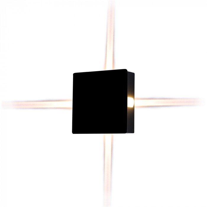 V-TAC VT-704 Lampada LED da Muro Quadrato Nero