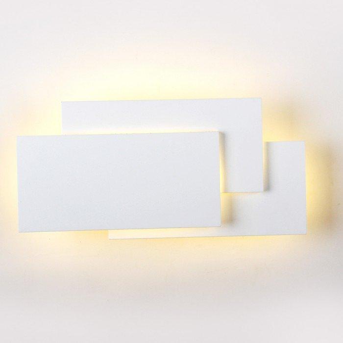 VT-712 Lampada LED da Muro Rettangolare con Forme Sovrapposte 12W Colore Bianco