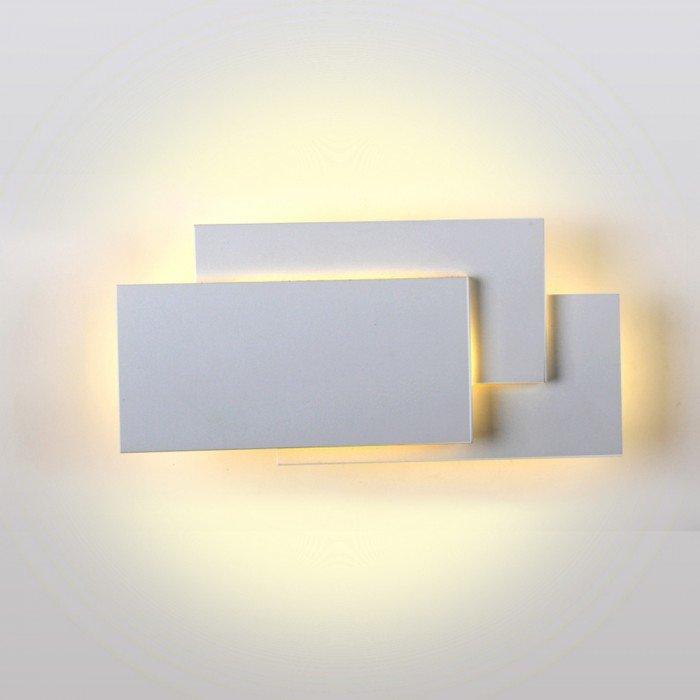 VT-712 Lampada LED da Muro Rettangolare con Forme Sovrapposte 12W Colore grigio