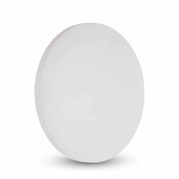 VT-743 Lampada LED da Muro Rotonda 9W Colore Bianco