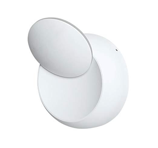 VT-757 Lampada LED da Muro Arrotondata LED COB 5W Colore Bianco Satinato Ruotabile 360°