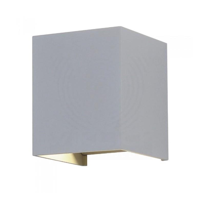 VT-759-12 Lampada LED da Muro Quadrata Doppio LED COB 12W grigio