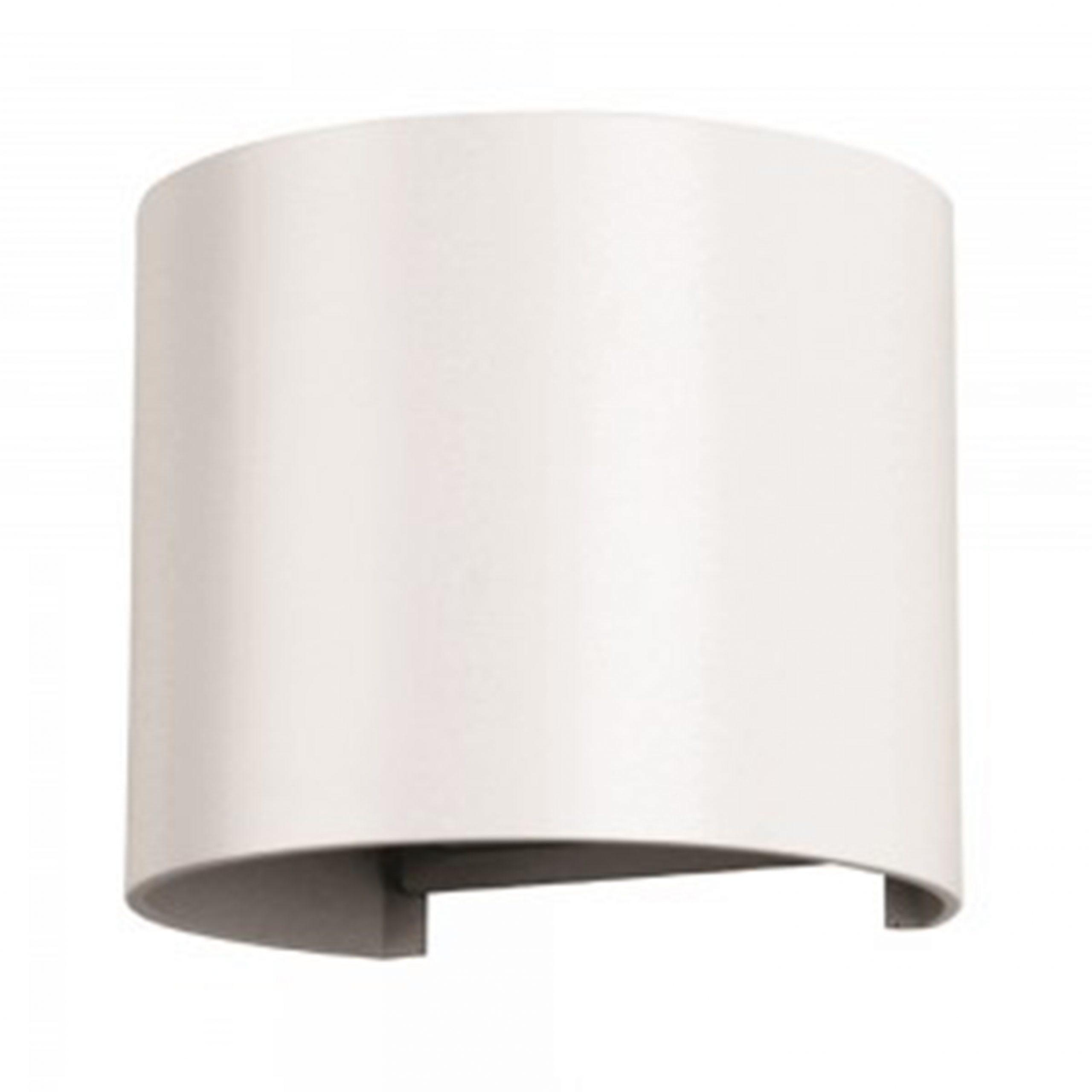 VT-759 Lampada LED da Muro Arrotondata Doppio LED COB 6W Bianco