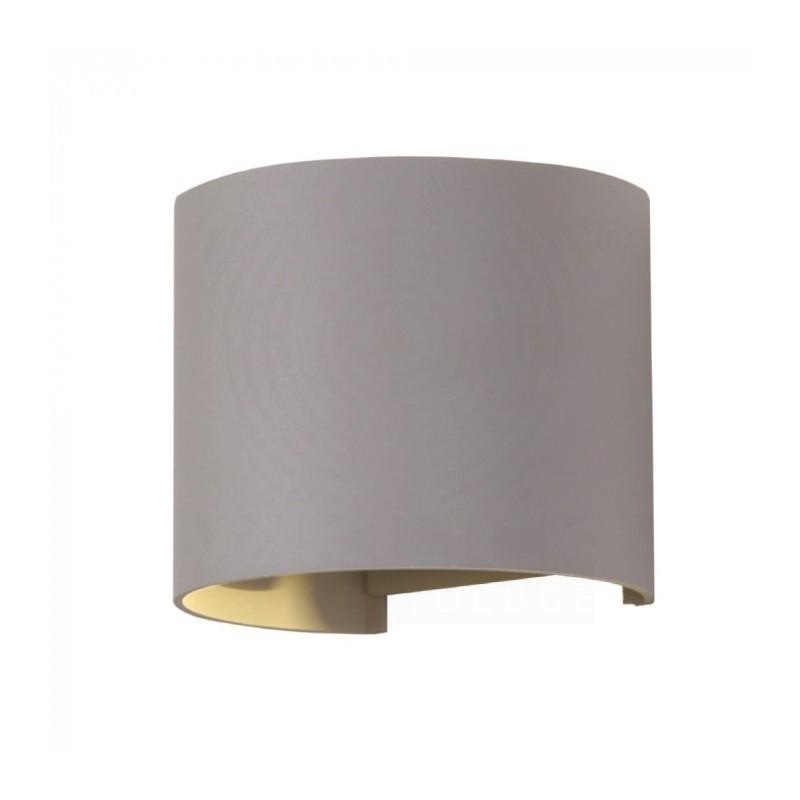 VT-759 Lampada LED da Muro Arrotondata Doppio LED COB 6W Grigio