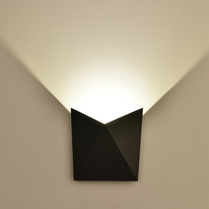 VT-825 Lampada LED da Muro a Tasca 5W Colore nero