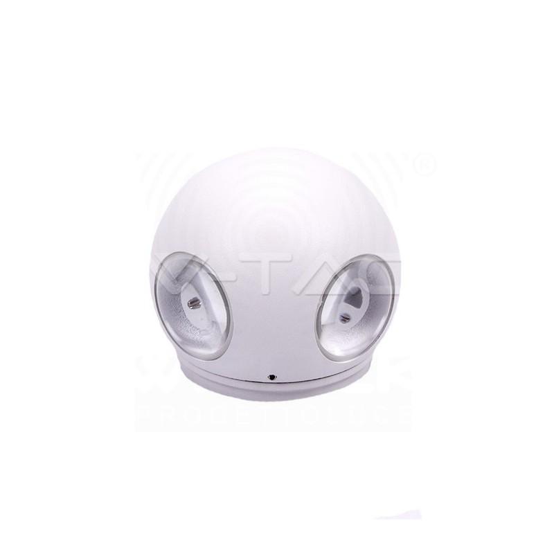VT-834 Lampada Led da muro sferica Colore Bianco 4W