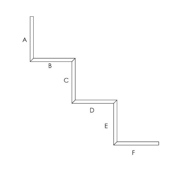 scalettato 3 gradini sezione